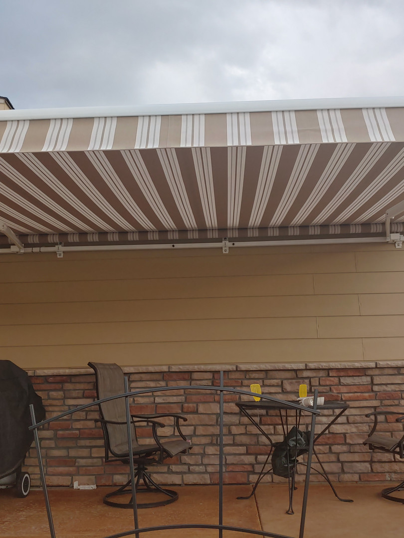 Classic Awning with a Straight Valence
