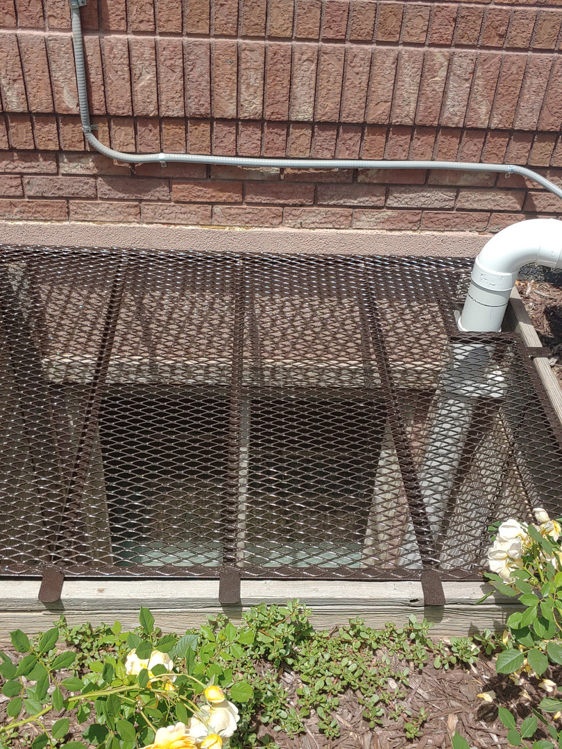 Window Well Cover around Radon System