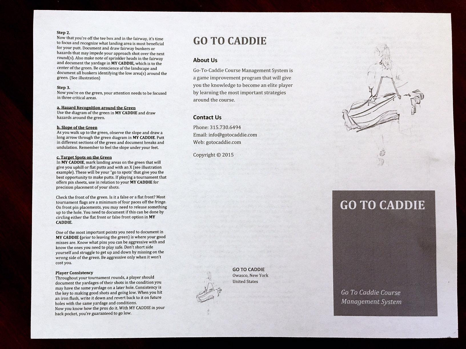 Junior golfers yardage books college golf camps junior golfers yardage solutioingenieria Gallery