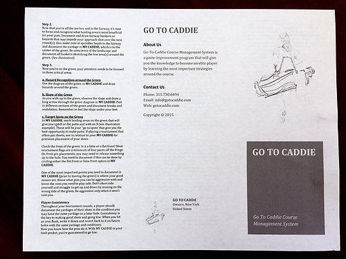 My Caddie Junior Yardage Book 6 pack
