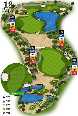 Website Golf Course Graphics and Course Guides