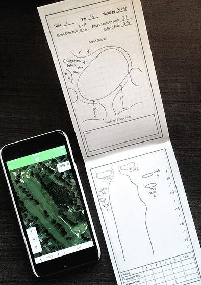 DIY Yardage Book and Golf Phone App