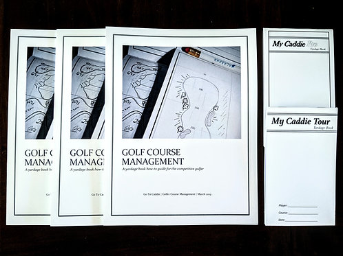 Golf Course Management Program with Yardage Book