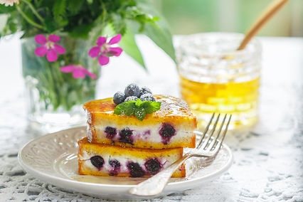 French Toast Stuffed with Ricotta and Bl