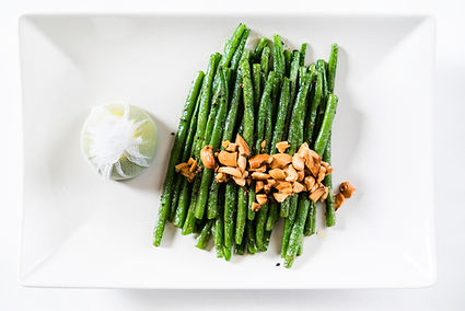 Roasted Green Beans with Fried Cashews.j