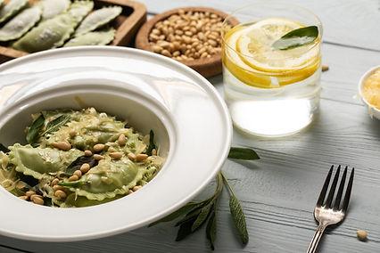 Spinach Ravioli with Sage & Pine Nuts.jp