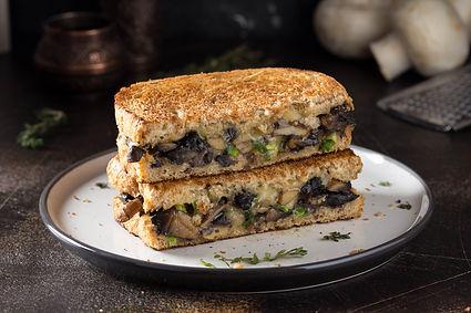 Mushrooms, Green Onions, Cheese Sandwich