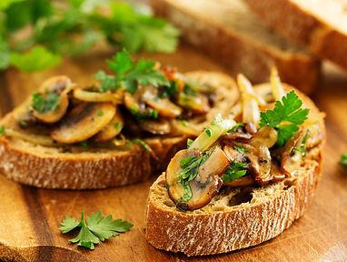 Vegan Bruschetta with Mushroom & Onion.j