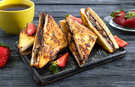 French Toast Stuffed with Bananas & Choc