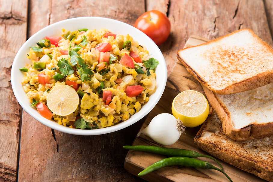 Indian Masala Anda Bhurji (Spicy Scrambl