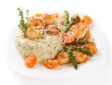 Oven Baked Risotto with Scallops