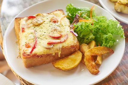 Open-Face Cheese Sandwich