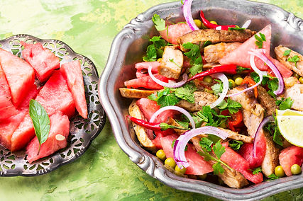 Summer Salad with Watermelon, Grilled Be