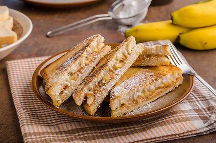 Peanut Butter & Banana Sandwich - Grille