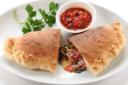 Calzone with Roasted Tomato Sauce