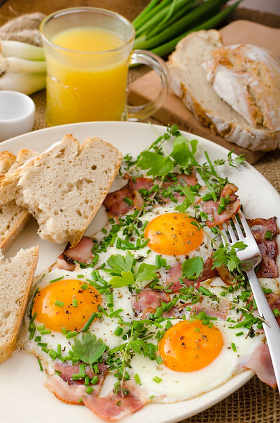 Eggs & Bacon with Herbs