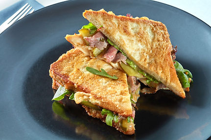 French Toast Sandwich with Ham & Whole G