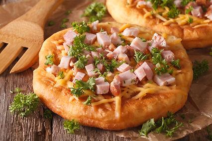 Hungarian Langos with Cheese & Ham.jpg