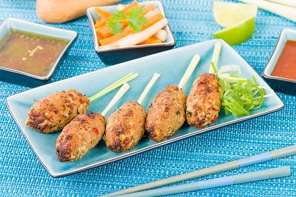 Nem Nuong Xa (Grilled Meat on Lemongrass