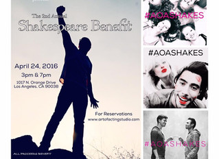 The 2nd Annual Art of Acting Studio Shakespeare Benefit