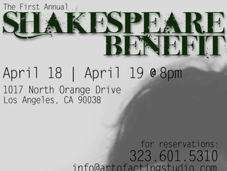 The 1st Annual Art of Acting Studio Shakespeare Benefit