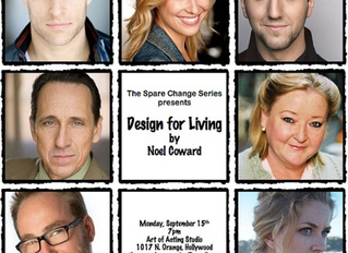 """The Spare Change Series presents """"Design for Living"""""""