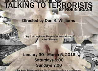 HCLAB presents the West Coast Premiere of TALKING TO TERRORISTS