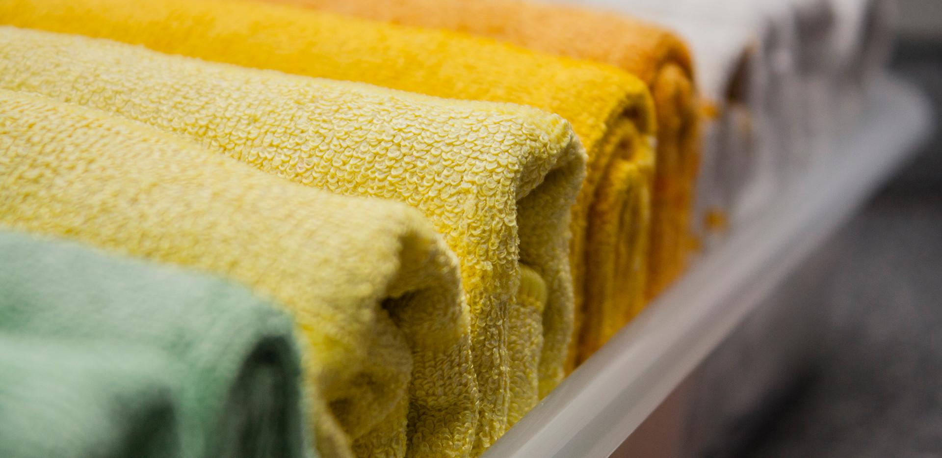 geordnete Handtücher