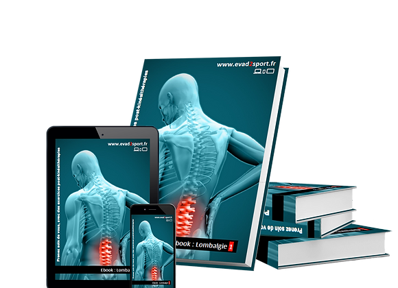 """Ebook Kiné Lombalgie """"1"""" Musculaire & Stretching"""