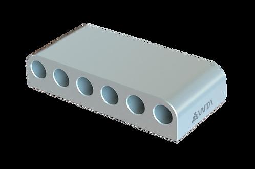 Rack de Alumínio para 6 Seringas de 20ml
