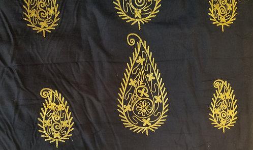 刺繍ペイズリー(インドシルク)
