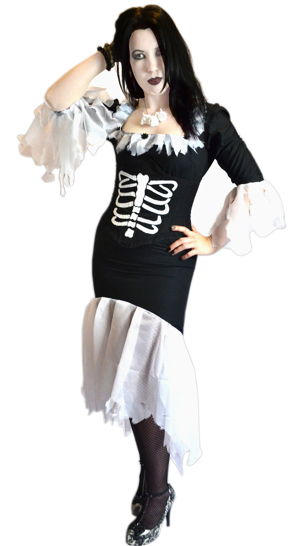 Mortuary Dress & Corset, model - Trish
