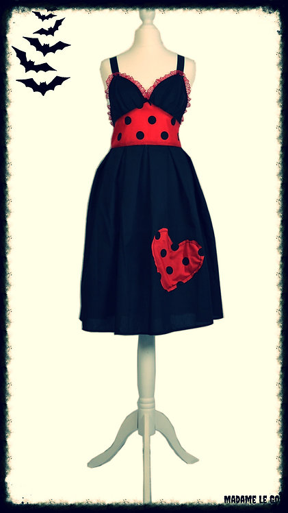 Dotty Dead Heart Sundress