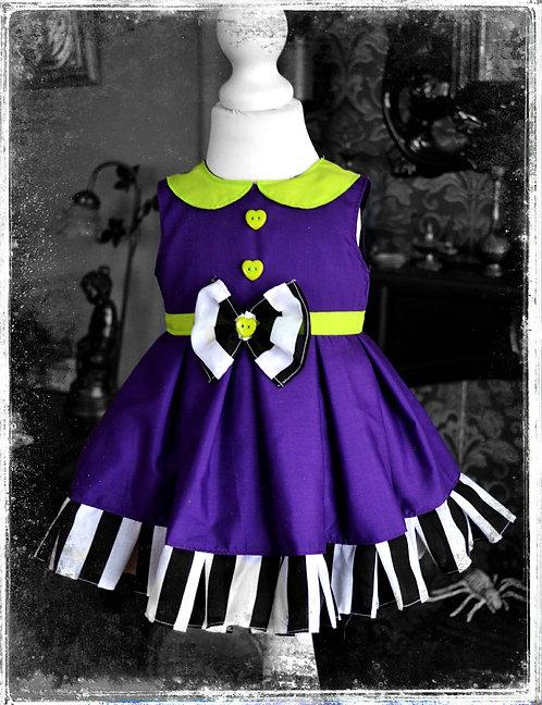 "Spooky""Recently Deceased"" Beetlejuice Dress"