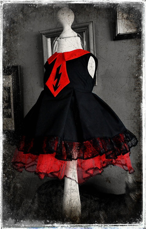 Little Miss Antichrist Spooky Goth Dress