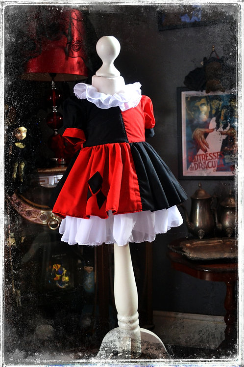 Daddy's Little Monster- Classic Harley Quinn Party Dress