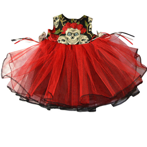 Creepy little Ghoul Gown, perfect for your Lil Vamp!