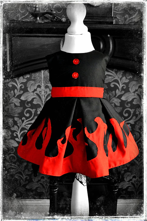 Lucy Hellfire the Girl with Fire Eyes Retro Style Dress