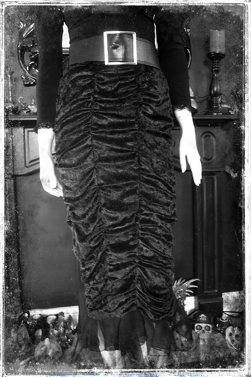Dead and Buried Velvet Coffin Skirt