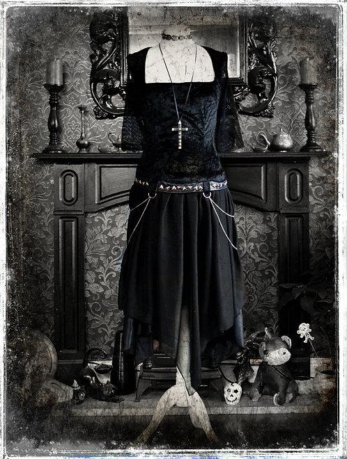 """Lucretia - """"Queen of The Undead"""" Deathrock Punk Dress"""