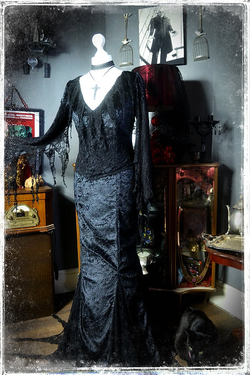 Morticia Addams Couture Gown