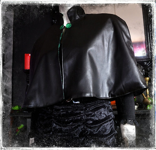 The Witch of The West Faux Leather Cape