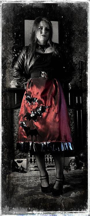 'Vampire Groupie Ghoul'Gothic Bat Skirt