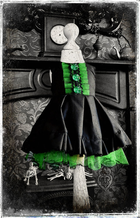SAMPLE SALE! Baba Elphaba Gothic Witch Dress & Cape