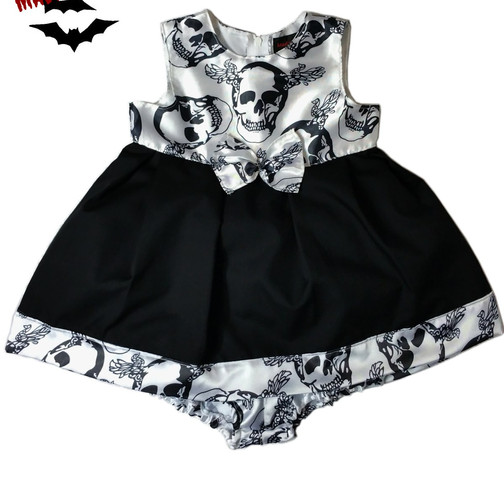 Beautiful and Spooky little summer dress for Ghoulish Girls.