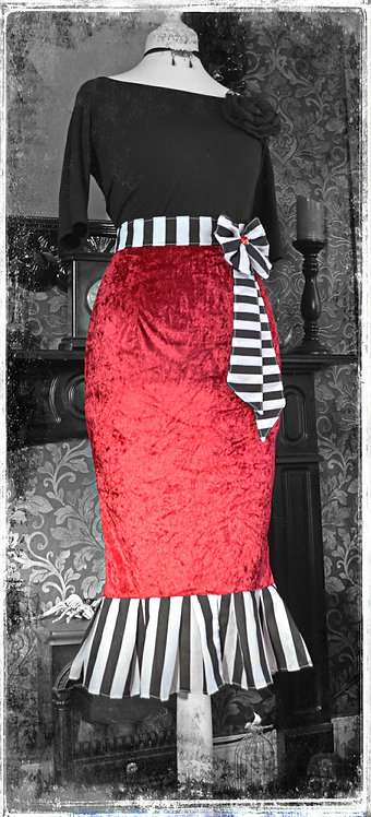 'The Legend of Ruby Blood' Pin Up Girl Skirt