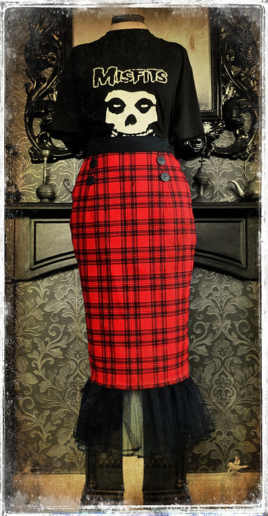 Nasty Nancy, Queen of The Punx Tartan Punk Starlet Skirt