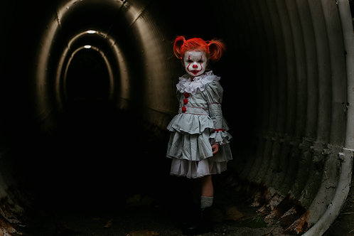 Deadly and Demented Pennywise The Dancing Clown Costume Dress for Little Girls