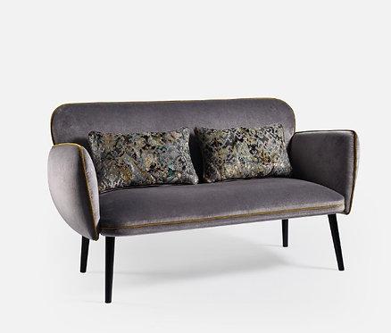 Canapé contemporain velours gris
