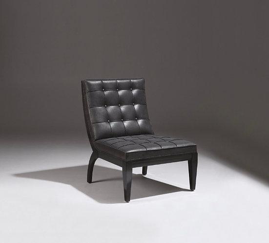 Chauffeuse lounge personnalisable avec simili cuir noir, siège cocktail